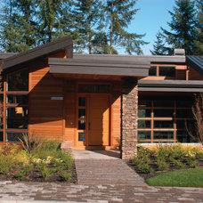 Contemporary Exterior by Alan Mascord Design Associates Inc