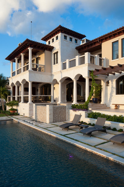 Mediterranean Exterior by Perrone Construction