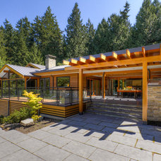 Contemporary Exterior by Kevin Vallely Design