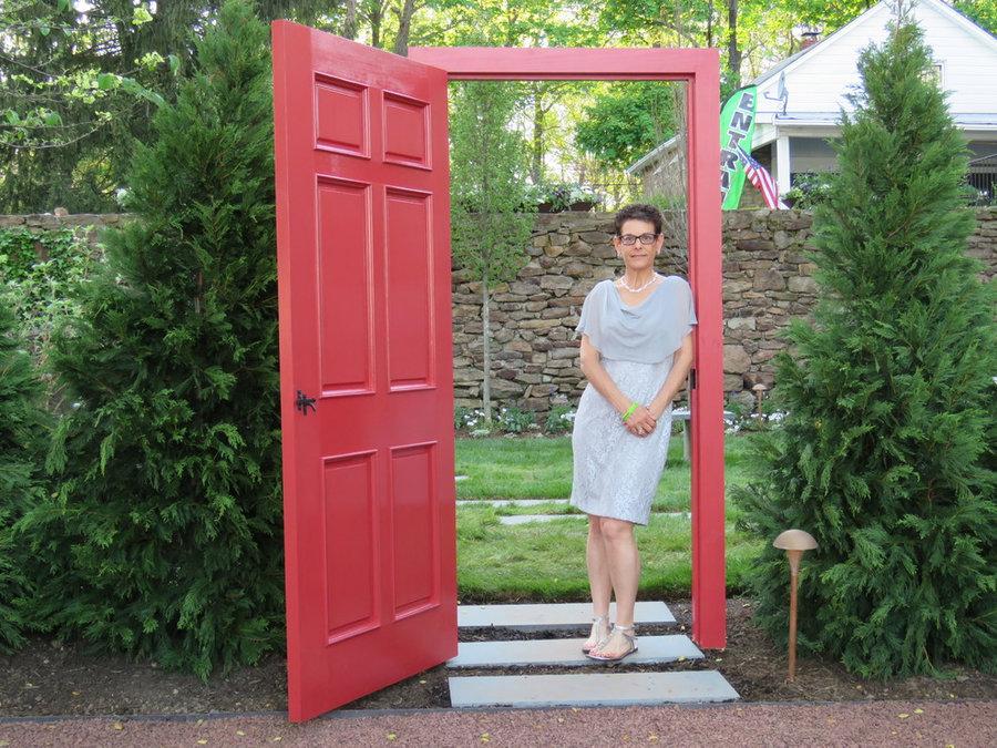"""The Red Door- entry to the """"Secret Garden"""""""