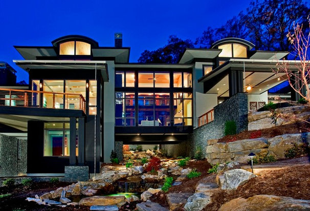 Contemporary Exterior by Sexton Griffith Custom Builders