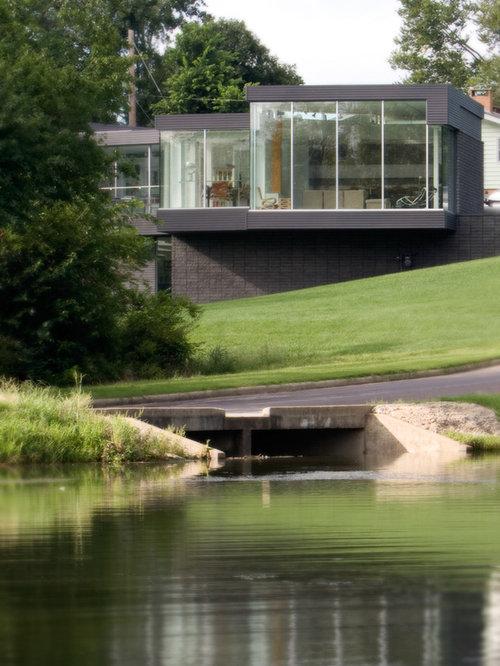 Split Roof Design: Split-Level Flat Roof Home Design Ideas, Pictures, Remodel