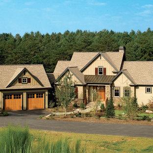 Contemporary exterior home idea in Charlotte