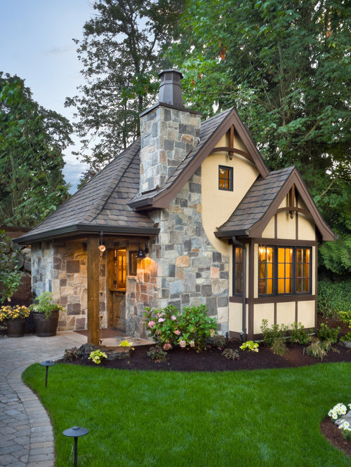 Traditional Stone Exterior Home Idea In Portland