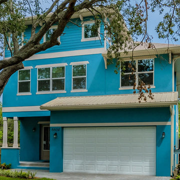 The Sea Breeze   Front Elevation   New Home Builders in Tampa Florida