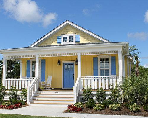 Foto e idee per facciate facciata di una casa wilmington for Piani casa cottage acadian