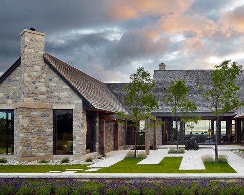 Stone Exterior Home | Houzz