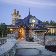Eclectic Exterior by Architectural Timber and Millwork