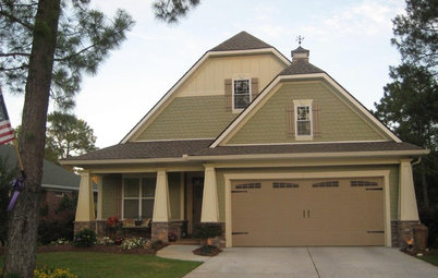 Clipped Gable Roofs Extend Traditional Exterior Style