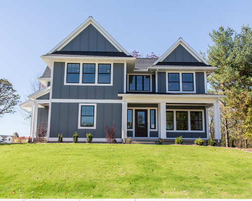 Gray House White Trim Houzz