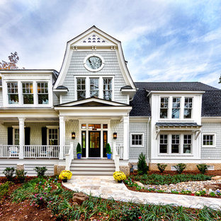 Huge coastal exterior home photo in Other
