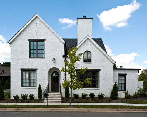White brick exterior design ideas remodel pictures houzz