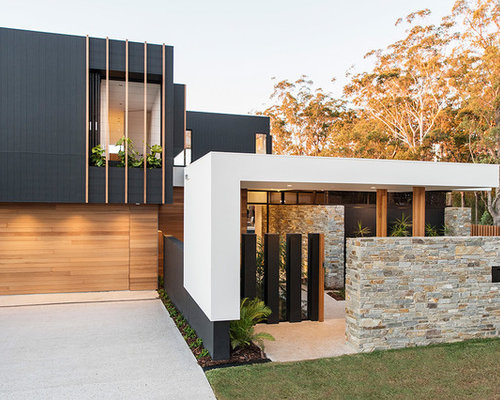 Exterior Home Design exterior home with a flat roof ideas & design photos | houzz