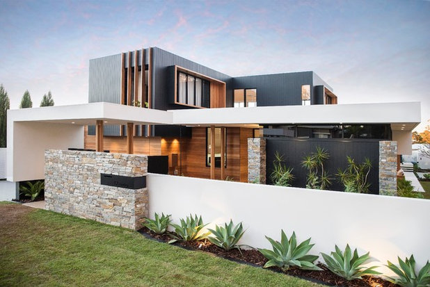 Contemporary Exterior by Mark Winter Constructions