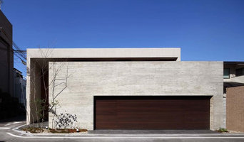 Three courtyard with residential  Osaka Japan