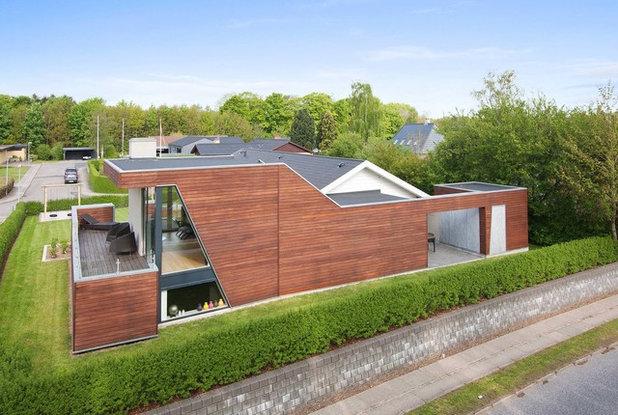 Trendy Hus & facade by Christoffersen Arkitekter maa