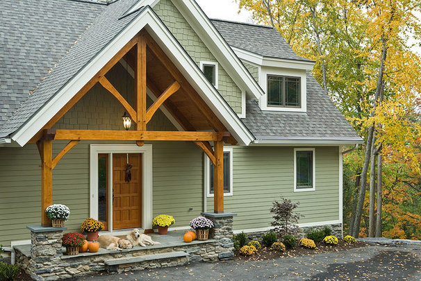 Contemporary Exterior by Woodhouse Post & Beam Homes