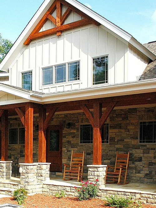 Timber frame porch ideas pictures remodel and decor for Open beam front porch