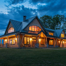 Rustic Exterior by Vermont Timber Works