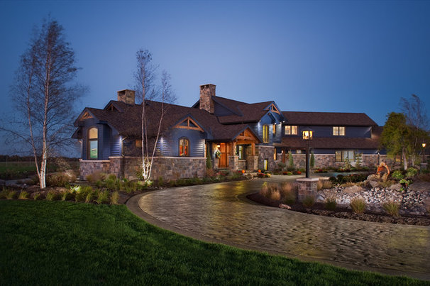 Rustic Exterior by Design Works Architecture
