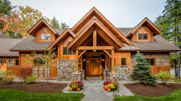 Rustic Exterior by All in the Details