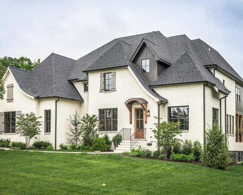 Foto e idee per facciate di case facciata di una casa for Case in stucco e mattoni