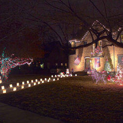 Timeless Decorative Lighting - FLIC Luminaries - FLIC luminaries look great as your sole Christmas lighting decor, or incorporate our luminaries with your other lighting, for a whimsical concept of Christmas.