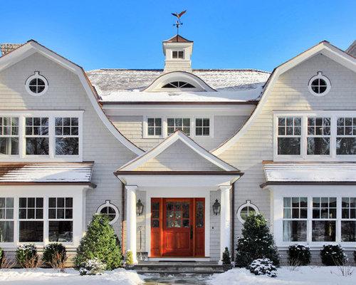 Ideas para fachadas dise os de fachadas con tejado a for Tejados madera blanca