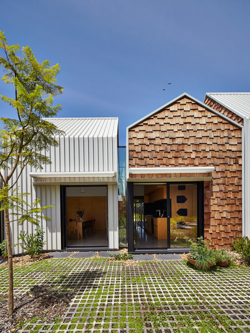 Inspiration For A Contemporary Gable Roof Remodel In Melbourne