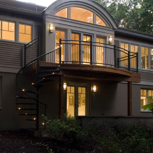 Inspiration for a contemporary exterior home remodel in DC Metro