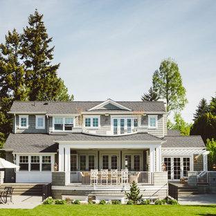 Idéer för ett klassiskt grått hus, med två våningar