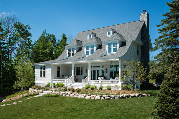 Traditional Exterior by Edward Postiff Interiors