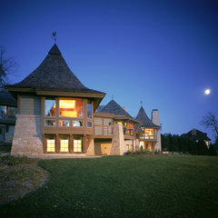 traditional exterior by GMK Architecture Inc