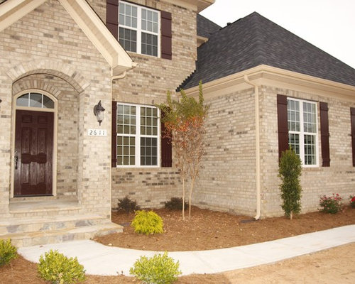 Brick And Shutters Home Design Ideas Pictures Remodel