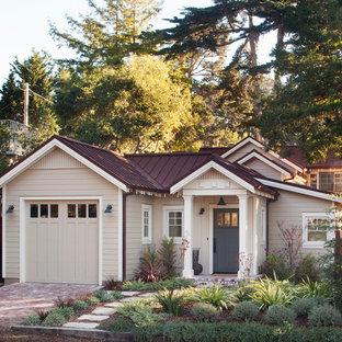 Small elegant beige exterior home photo in San Francisco