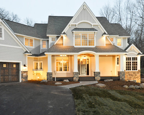 Sherwin williams gray exterior houzz - Sherwin williams black fox exterior ...