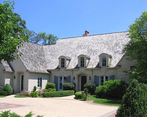 Stucco French Country Brick Houzz