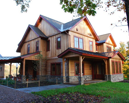 Board And Batten With Stone Houzz