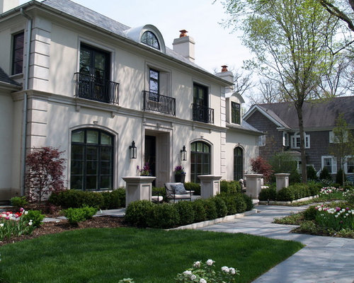 Stucco window houzz for Can exterior stucco be painted
