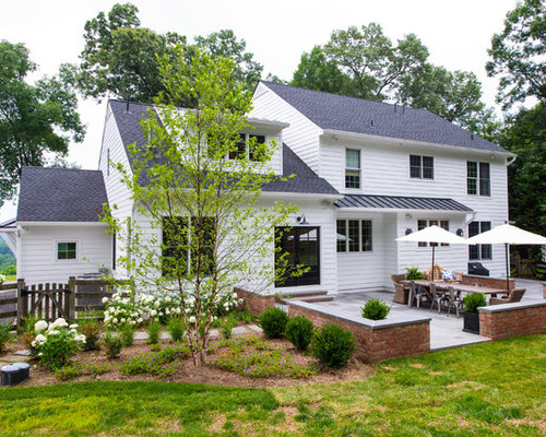 Traditional Wood Exterior Home Idea In Baltimore