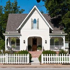 Farmhouse Exterior by P. Shea Design