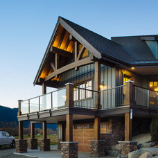 Rustic Exterior by Mountainside Design + Build