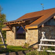Farmhouse Exterior by StoneHorse Design, Inc.