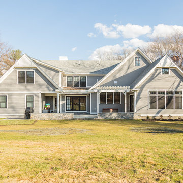 Transformation of One Story Ranch to a Shingle-Style Home