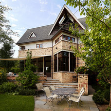 Transitional Exterior by Morgante Wilson Architects
