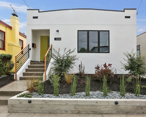 Contemporary White One Story Stucco Exterior Home Idea In San Francisco Part 74