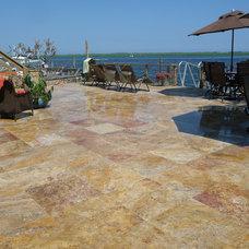 Mediterranean Exterior by StoneMar Natural Stone Company LLC
