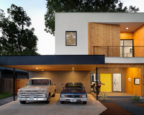 Two car garage with carport home design ideas pictures for House with carport
