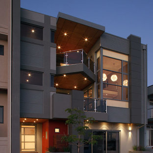 Mid-sized trendy two-story apartment exterior photo in Perth