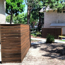 Modern Exterior Trex privacy fence